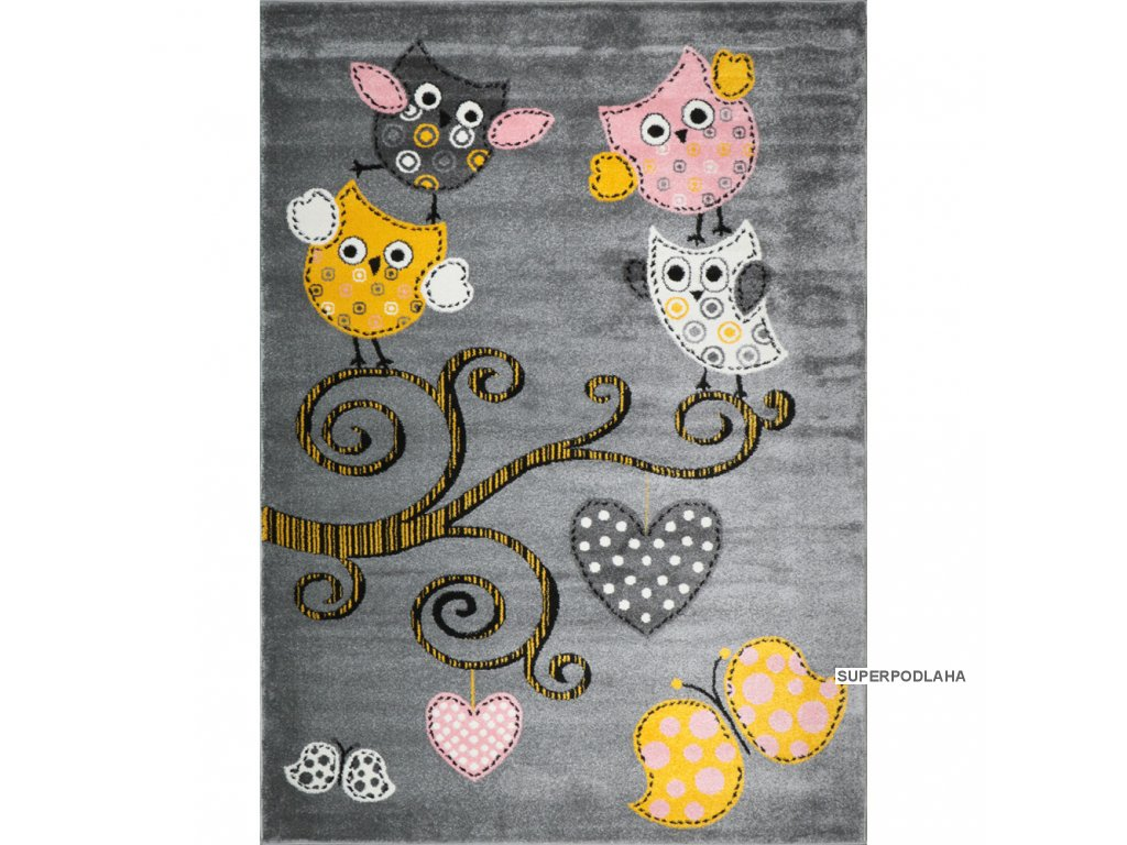 Kusový koberec Playtime 0420A yellow