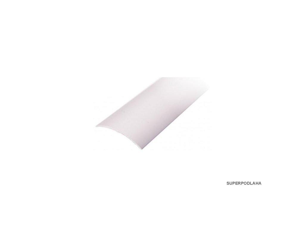 Přechodová lišta samolepící oblá 40 x 2700 mm stříbrná