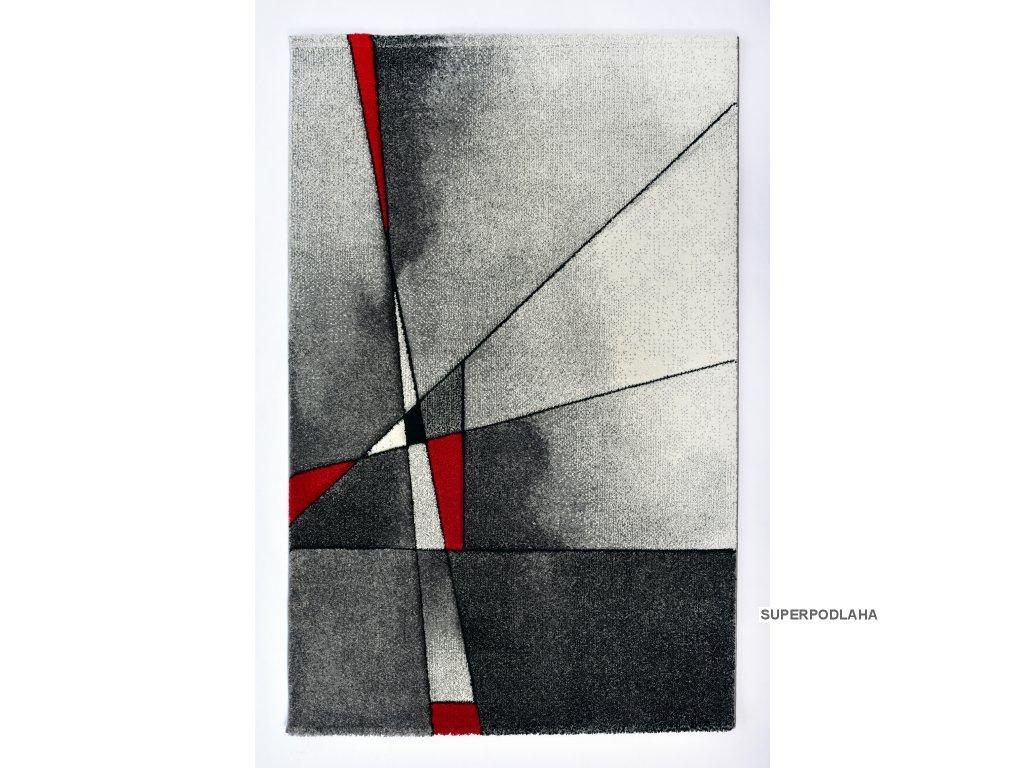 Kusový koberec Brilliance 21807-951 grey/red