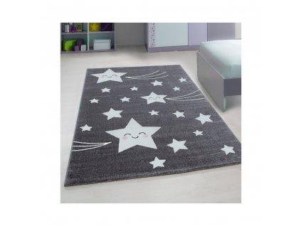 detsky koberec playtime 0610a tmavosedy