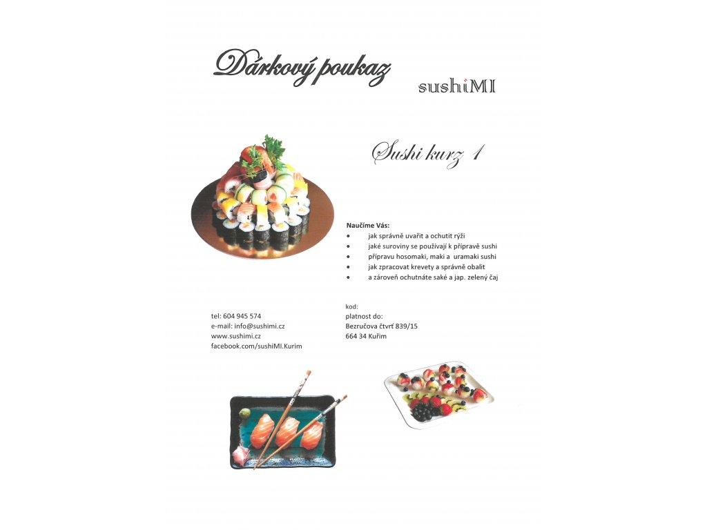 darkovy poukaz sushi kurz1