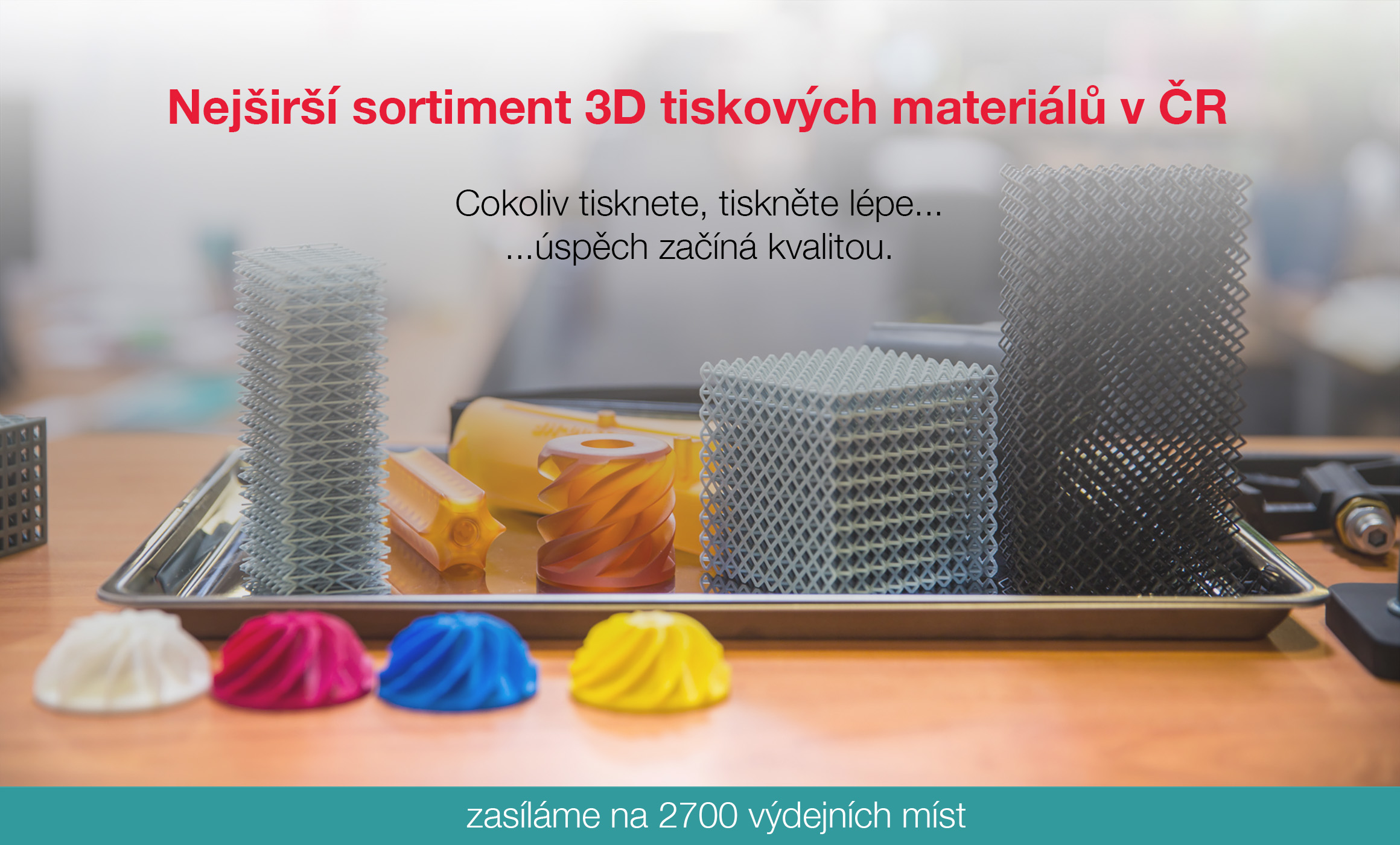 Nejširší nabídka 3D tiskových materiálů v ČR