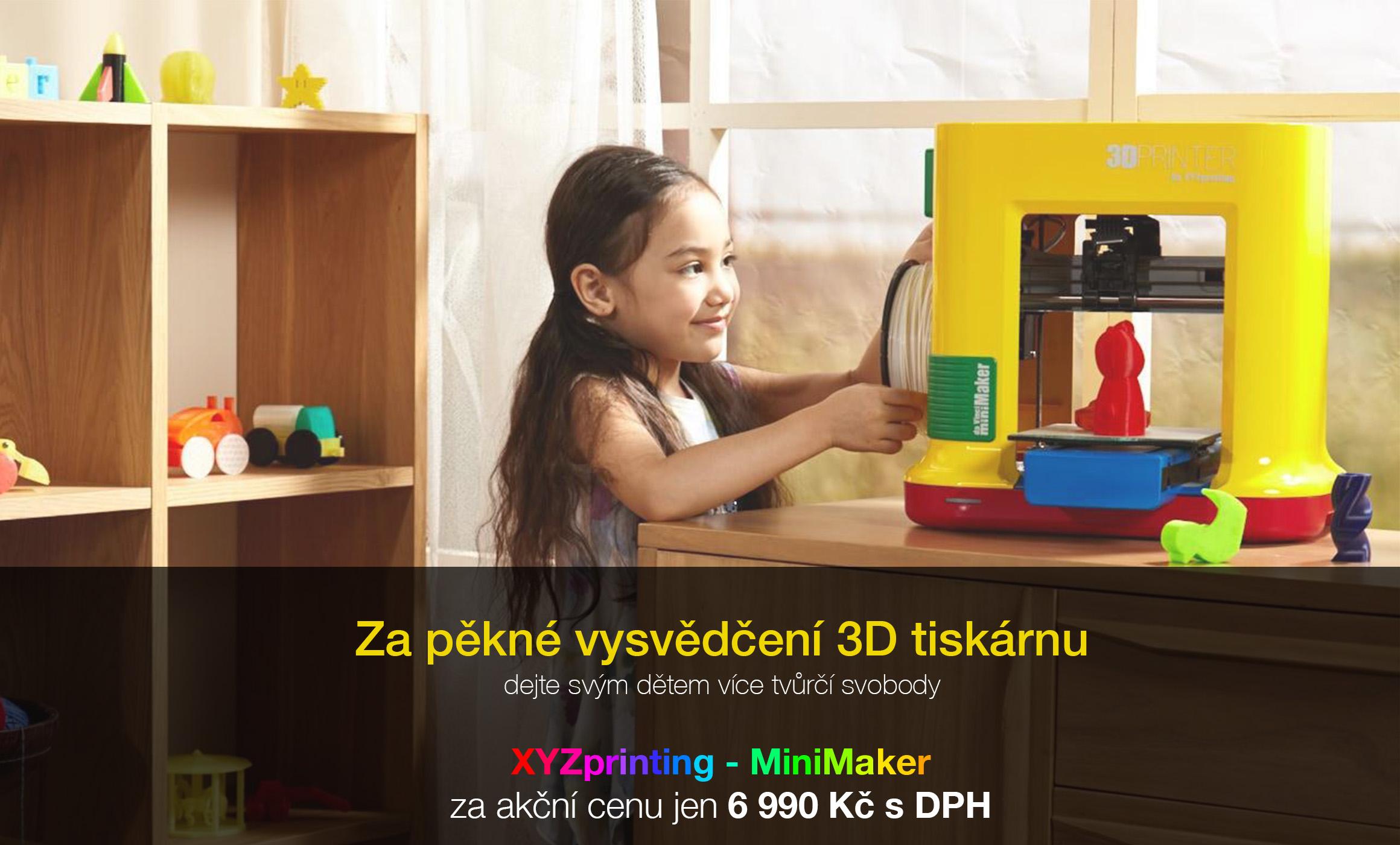 Za pěkné vysvědčení 3D tiskárnu