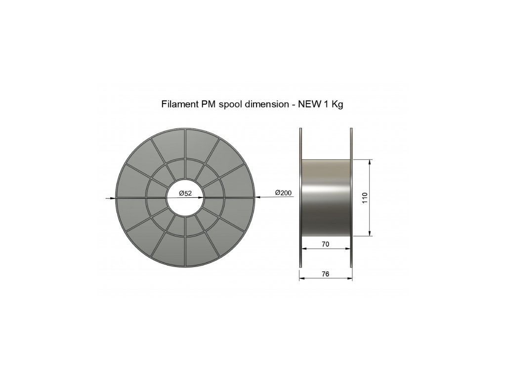 3D tisková struna Filament PM PLA černá