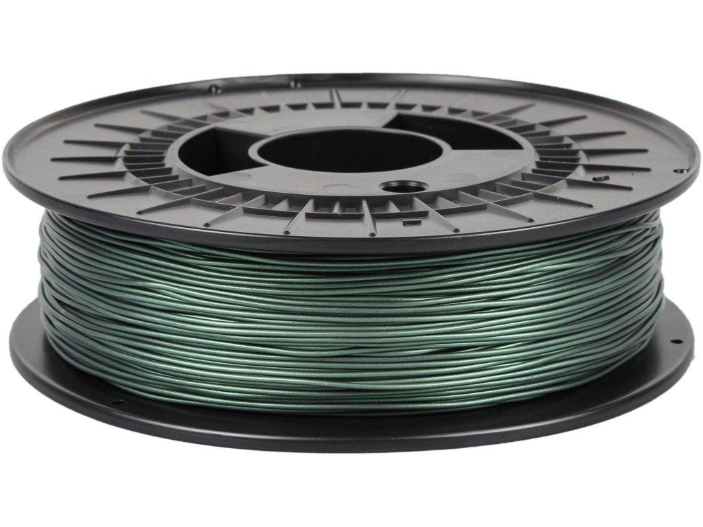 3D tisková struna TPE 88 RubberJet Flex metalická zelená