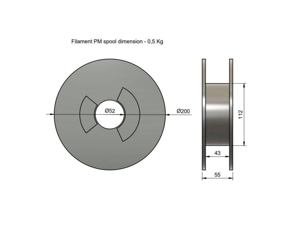 RubberJet TPE88 červená (Průměr struny 1.75 mm, Hmotnost návinu 0.5 kg)