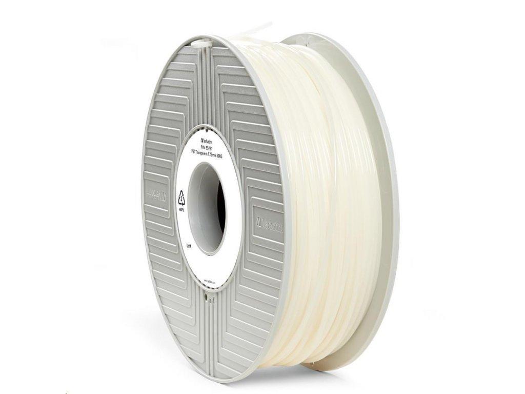 3D tisková struna Verbatim PET transparent 500 g 1,75 mm
