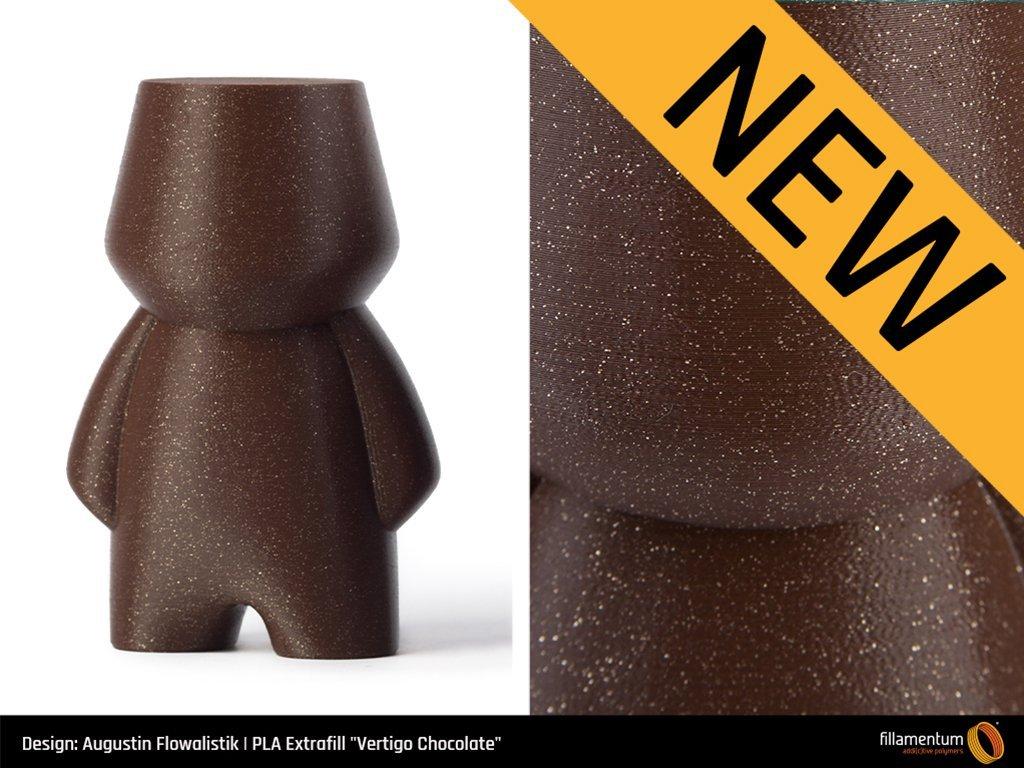 3D tisková struna PLA Extrafill Vertigo Chocolate
