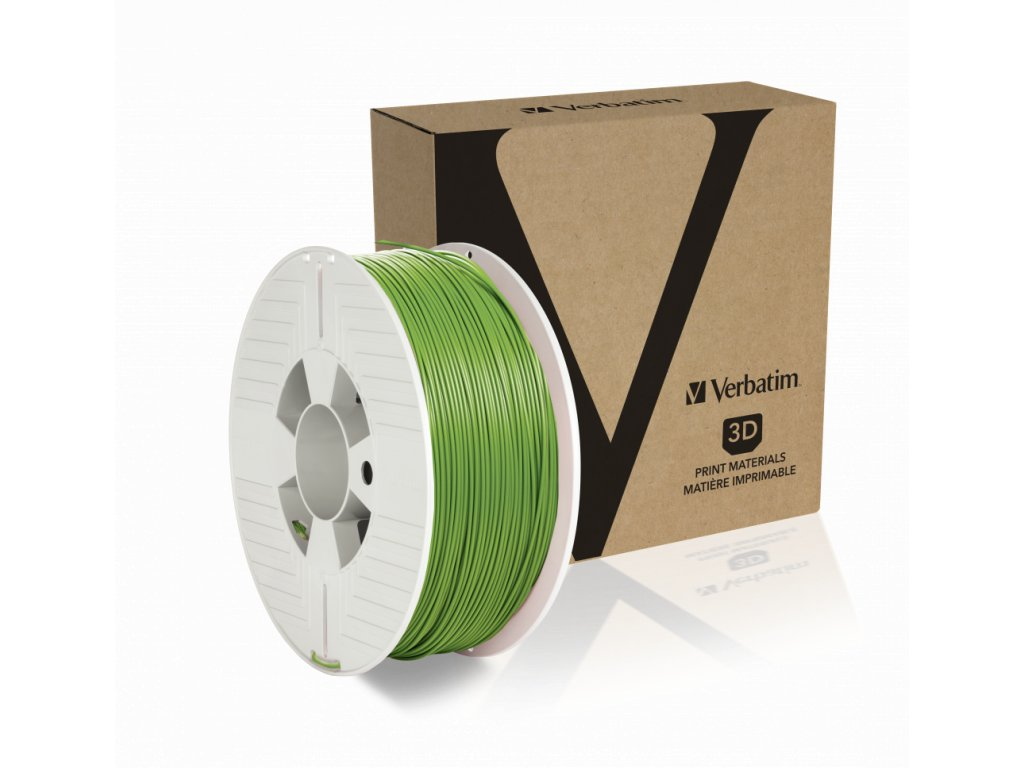 PLA 1.75mm Green Angled+Product
