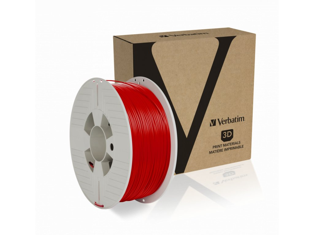 PLA 1.75mm Red Angled+Product