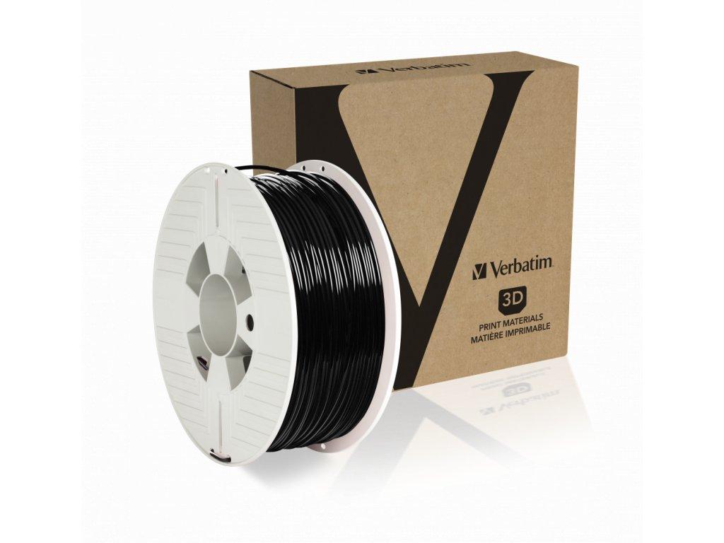 Verbatim PET G 2.85mm Black Angled+Product
