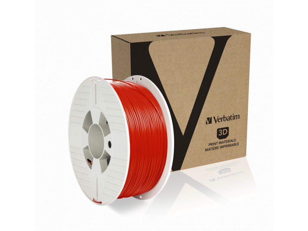 Verbatim PET G 1.75mm Red Angled+Product