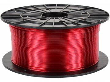 PETG transparentní červená (Průměr struny 1.75 mm, Hmotnost návinu 1 kg)