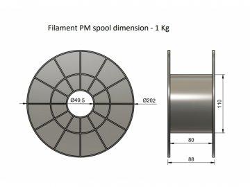 Filament PM PLA perlová červená (Průměr struny 1.75 mm, Hmotnost návinu 1 kg)