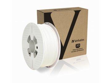 Verbatim PET G 1.75mm White Angled+Product