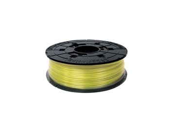 741 da vinci pla filament cartridge clear yellow 600gr