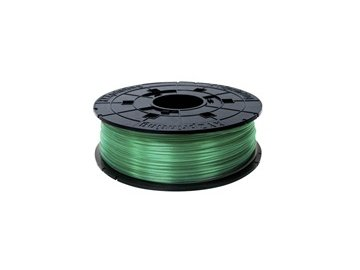 746 da vinci junior pla filament cartridge clear green 600gr