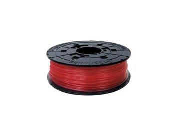 747 da vinci junior pla filament cartridge clear red 600gr