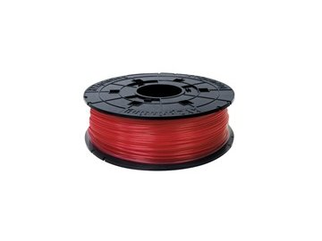 747 da vinci junior pla filament cartridge clear red 600gr