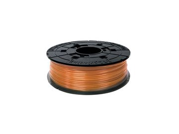 748 da vinci junior pla filament cartridge clear tangerine 600gr