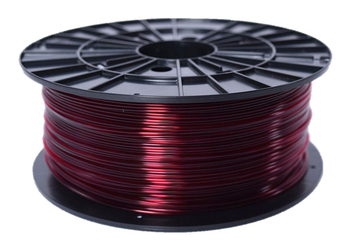 Plasty Mladeč ABS-T transparentní červená Průměr struny: 1.75 mm, Hmotnost návinu: 1 kg