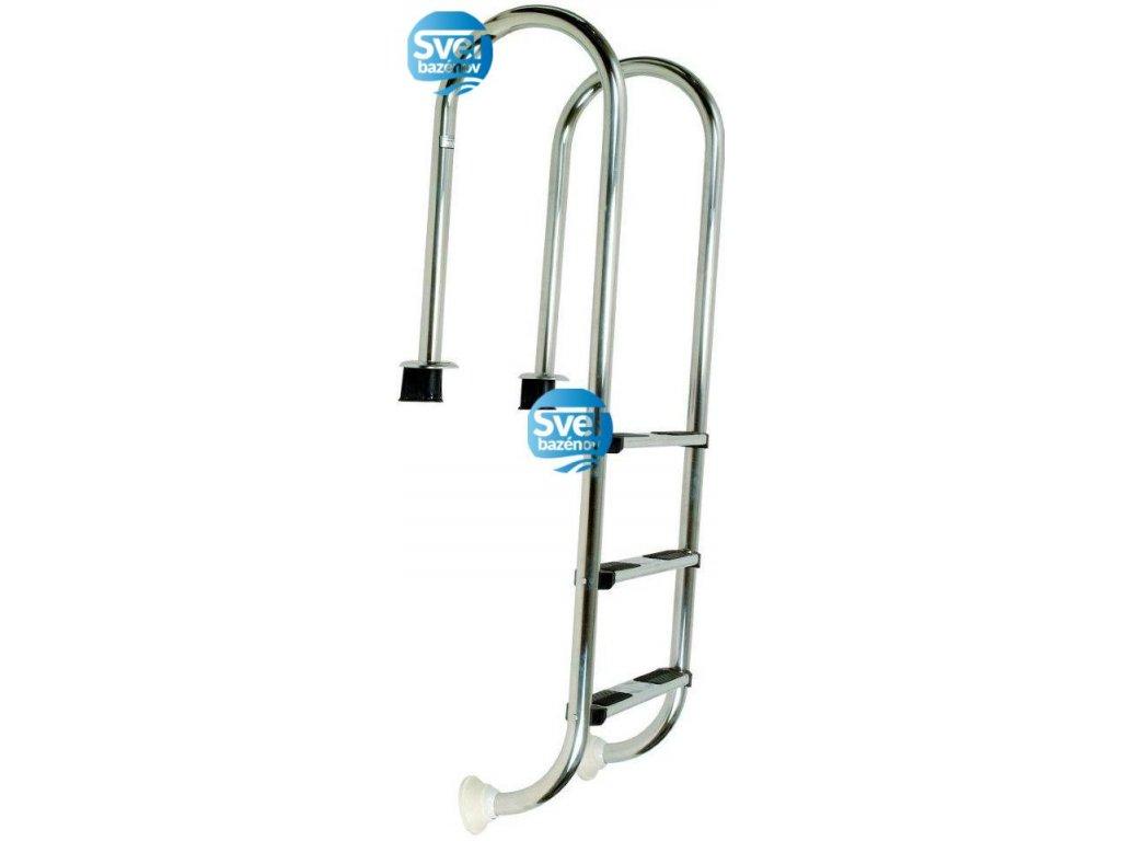 Rebrík nerez Muro (Slim) - (AISI 316), 4 stupne