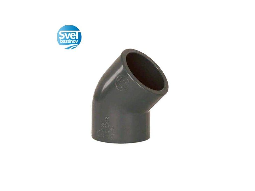 PVC Tvarovka 45° 50mm