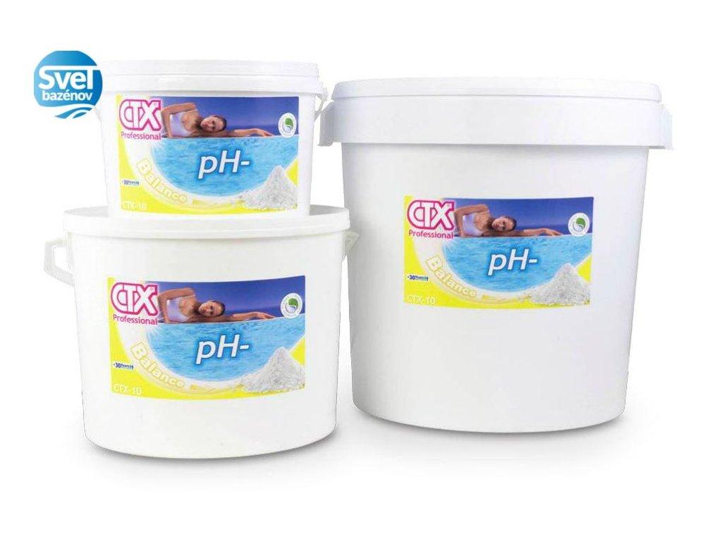 ASTRALPOOL CTX 10 granulát pH- 1,5 kg