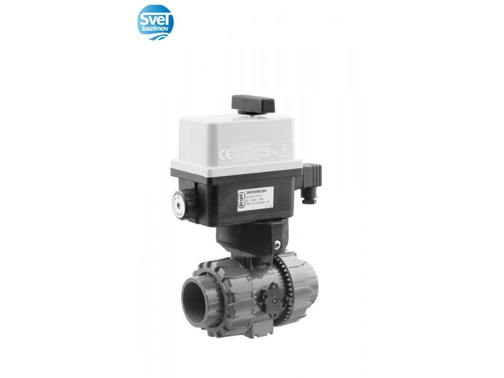Dvojcestný guľový ventil Easyfit O 50 mm, 230 V, FIP – pre solárne systémy