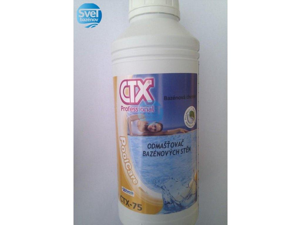 CTX 75 čistič bazénu - stien 1 liter