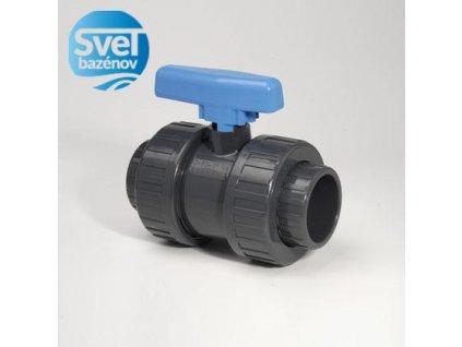 PVC d50 guľový ventil