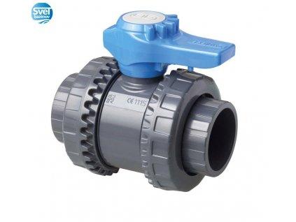 VAGNERPOOL Dvojcestný guľový ventil Easyfit O 63mm