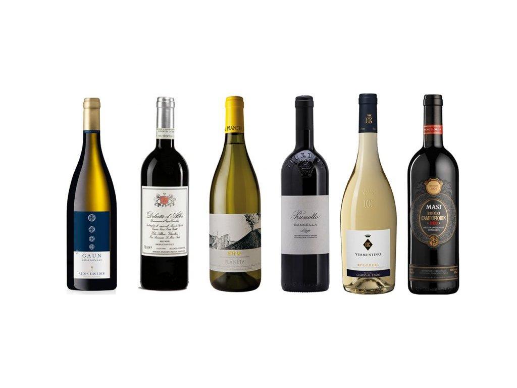 Vína ikonických vinařů Itálie