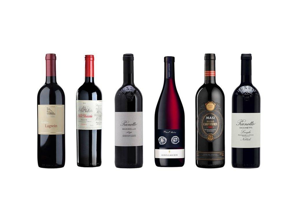 Červená vína severní Itálie