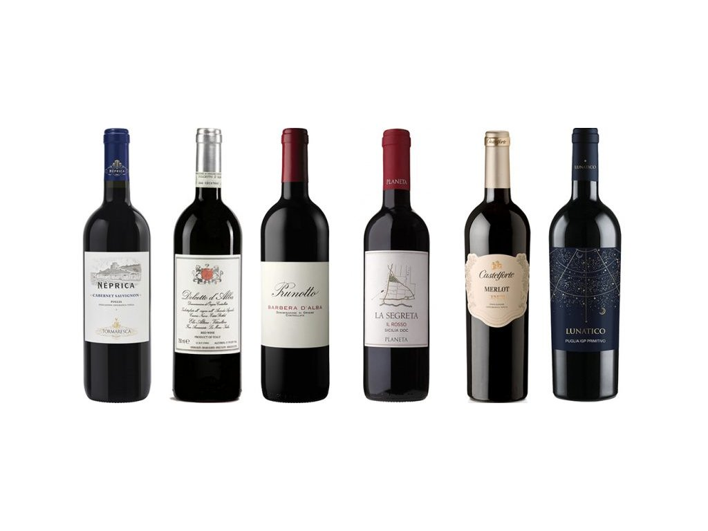 Červená vína Itálie sever proti jihu