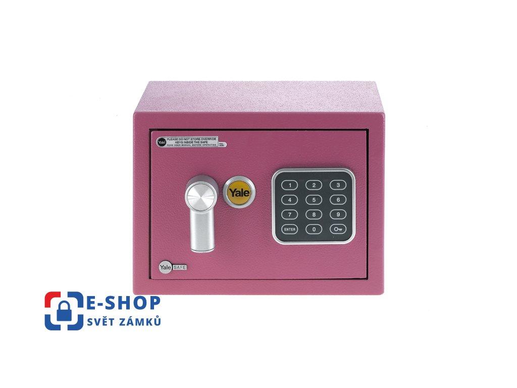 YALE sejf Value Mini Pink YSV/170/DB1/P