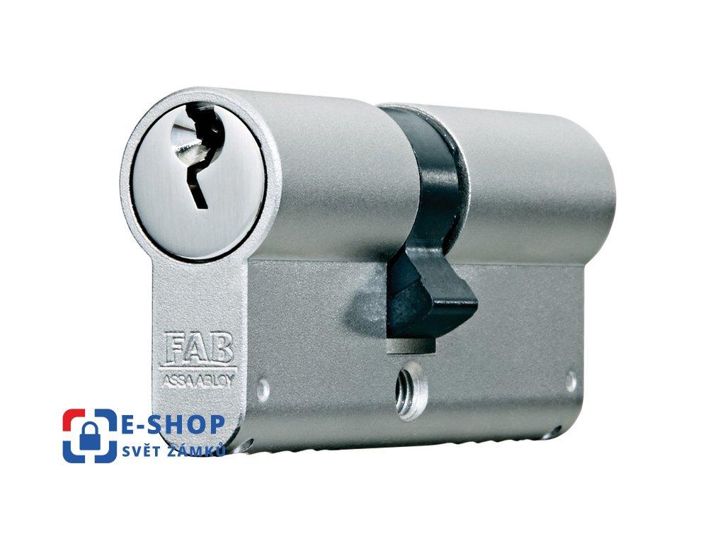 Cylindrická bezpečnostní vložka FAB 1000U4BDNs, 40+40 mm, Povrchová úprava: Nikl