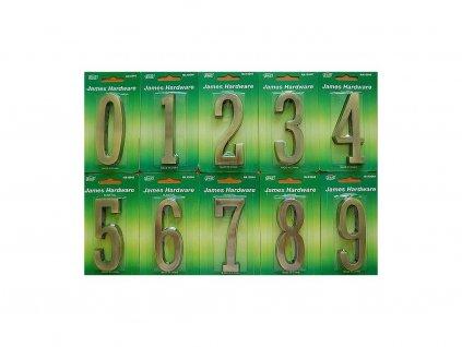 Číslice na dům - 100mm BRONZ Číslice: