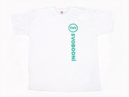 Bílé tričko s nápisem