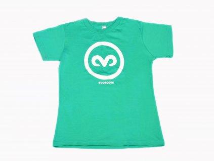 Zelené tričko s kruhem