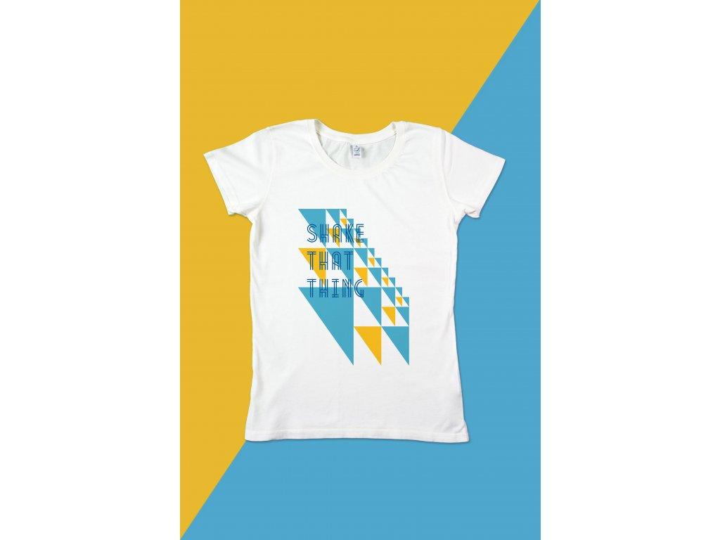 Dámské tričko Trojúhelníky