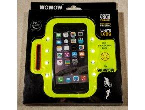 "WOWOW -  ""LED"" REFLEXNÍ POUZDRO SMARTPHONE BAND Green"