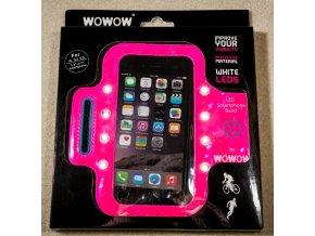 "WOWOW -  ""LED"" REFLEXNÍ POUZDRO SMARTPHONE BAND Pink"