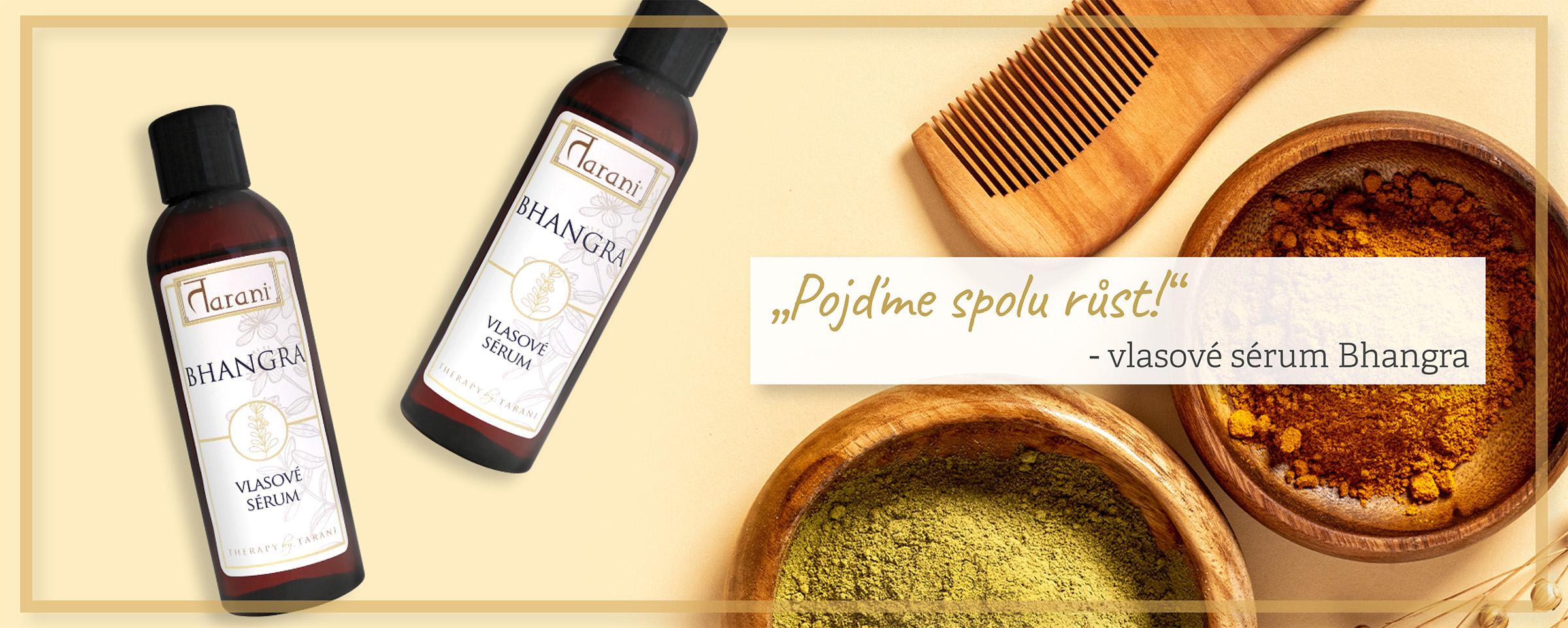 Bhangra zdravé vlasy přírodní péče ajurvéda sérum olej péče pevné