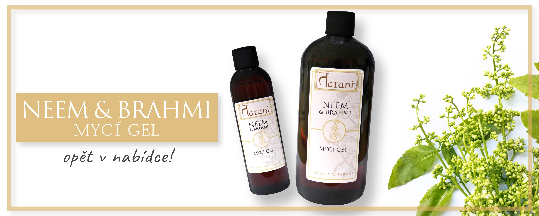 neem brahmi mycí gel přírodní péče zdraví ajurvéda kosmetika mýdlo