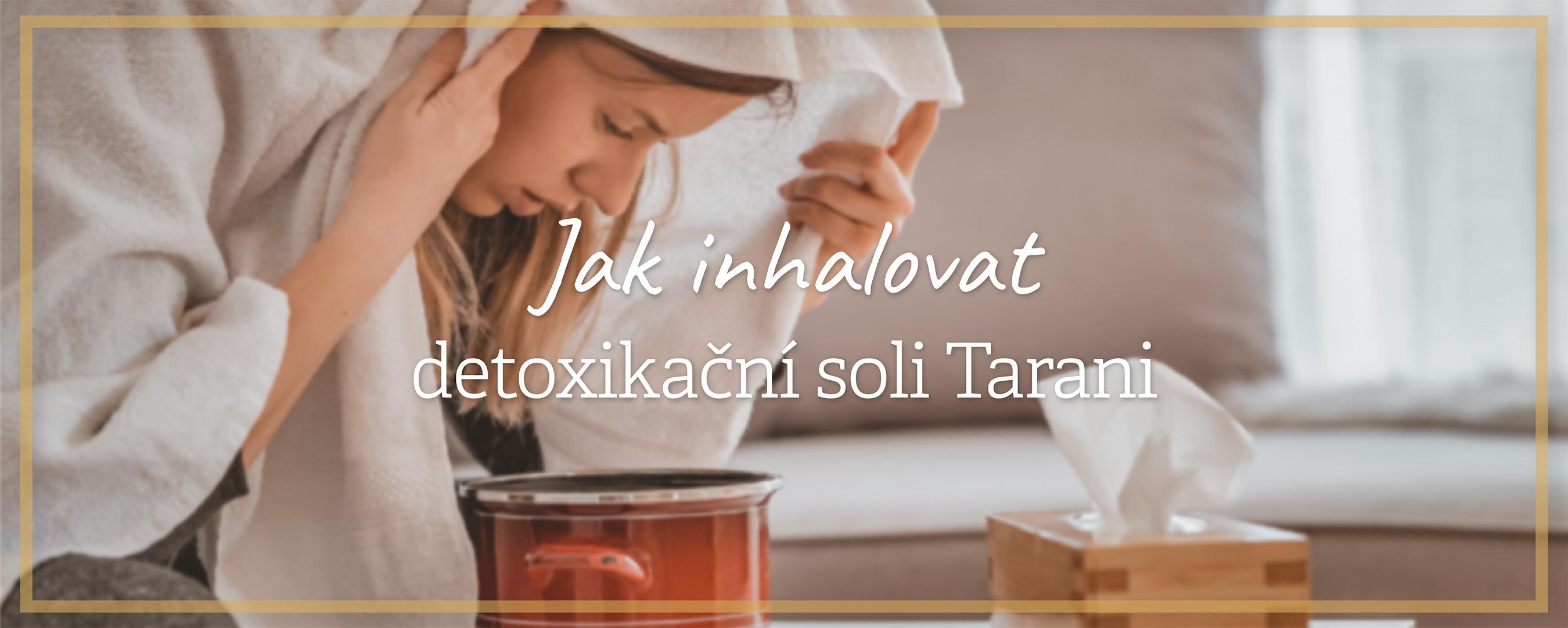 Inhalace sůl koupel přírodní esence oleje
