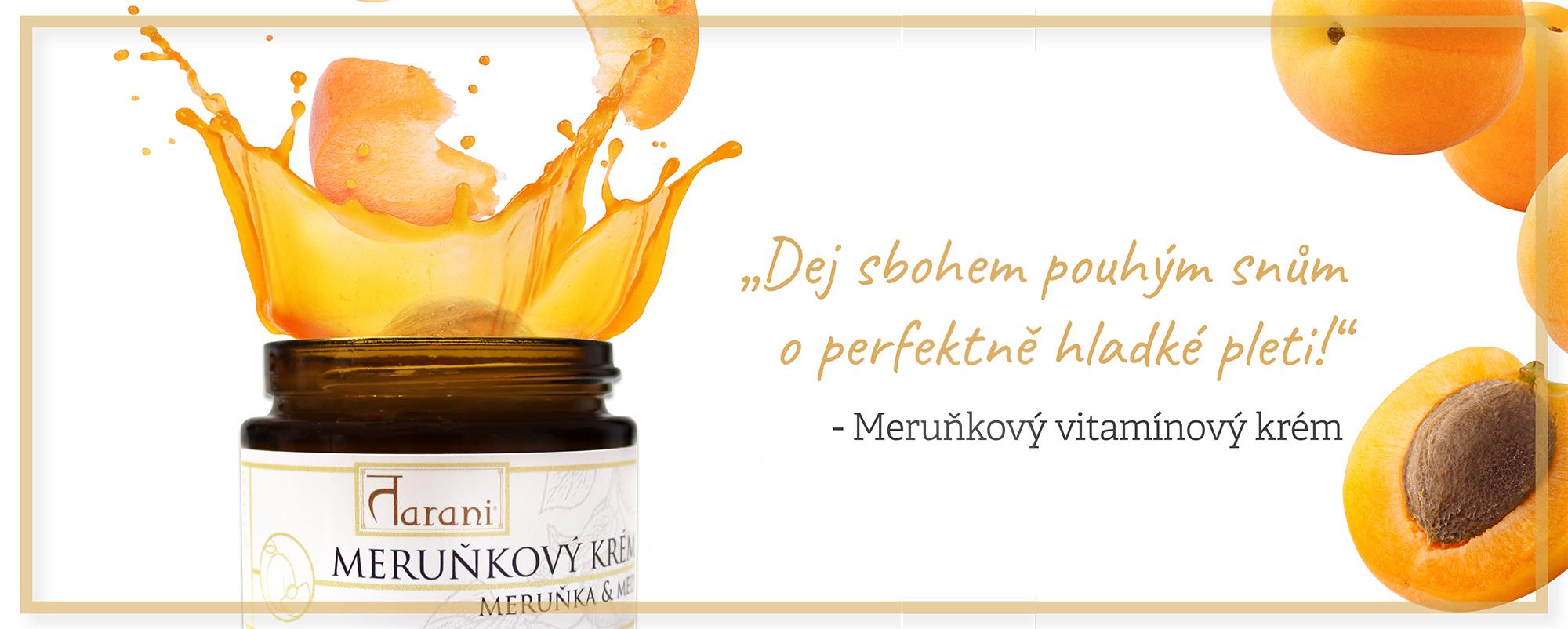 Meruňkový krém přírodní kosmetika Tarani vitamíny