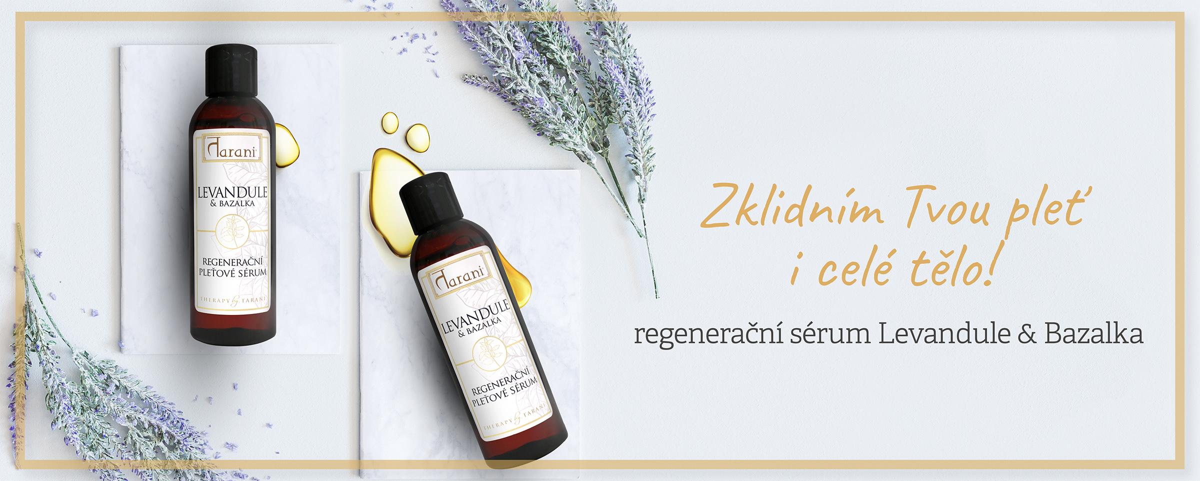 Levandule zklidňující olej sérum bazalka krása zdraví pleť