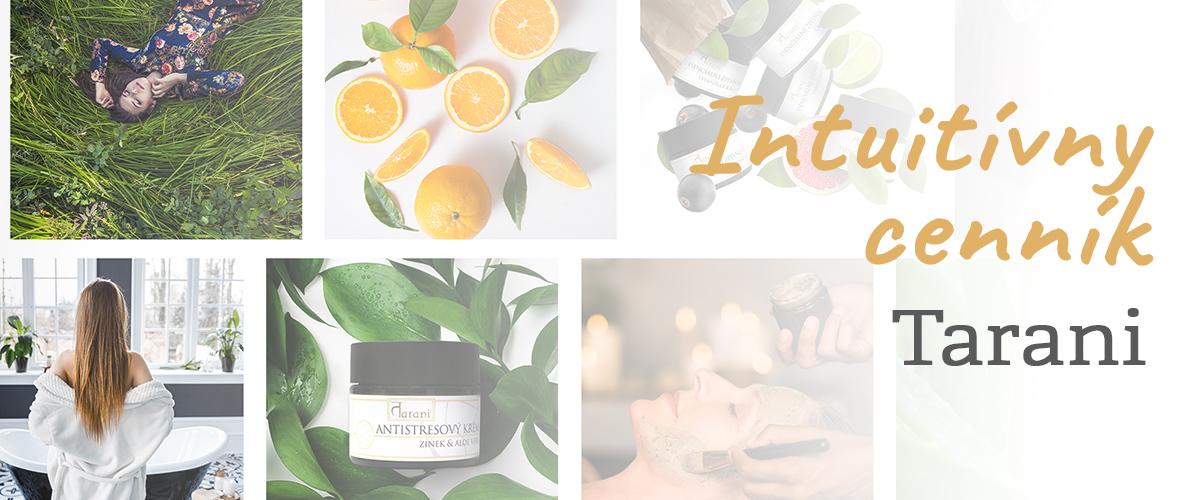 cenník tarani produkty prírodný kozmetika akné vrásky