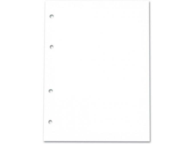 Bílý papír do diáře  A5